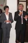 La direttrice Lucia Barbarino e il presidente Secondino Aluffi