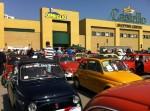 Raduno Fiat Cinquecento davanti al Centro Commerciale Il Castello di Canelli in una passata edizione