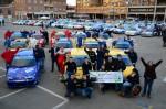 """Le auto che hanno gareggiato al """"Trofeo 600 per un sorriso"""" del 2012: in primo piano Casarone e Grimaldi"""