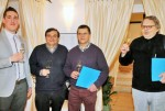 Da sinistra: Devis Caffa, Paolo Monticone, Giovanni Ruffa, Adriano Salvi