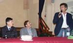 Intervento di Luigi Franco della Coldiretti. Al tavolo Sacco ed il sindaco di Ferrere.